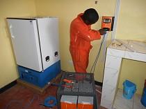 Installing Vaccine Refrigerator.