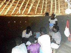 A clinic held in a native hut